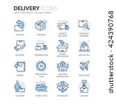 simple set of delivery related... | Shutterstock .eps vector #424390768
