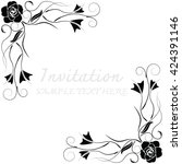 invitation card with floral... | Shutterstock .eps vector #424391146