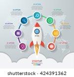 startup vector circle... | Shutterstock .eps vector #424391362