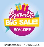 summer sale vector banner. 50... | Shutterstock .eps vector #424398616