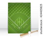baseball brochure.vector... | Shutterstock .eps vector #424405825