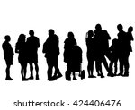 families people with little... | Shutterstock . vector #424406476