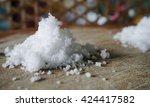The Salt On The Wood Backgroun...