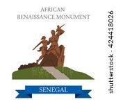 african renaissance monument in ... | Shutterstock .eps vector #424418026