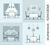 restaurant cafe condo... | Shutterstock .eps vector #424418068