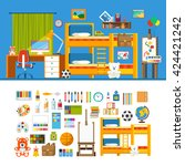 children room interior object... | Shutterstock .eps vector #424421242