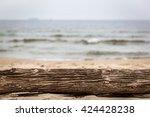 Tree Trunk Lying On The Beach....