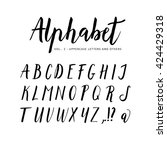 hand drawn  handwritten vector... | Shutterstock .eps vector #424429318