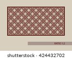 geometric ornament. the... | Shutterstock .eps vector #424432702