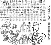 medical set of black sketch.... | Shutterstock .eps vector #42443272