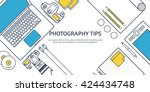 photography equipment with... | Shutterstock .eps vector #424434748