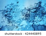 the texture of the rusting...   Shutterstock . vector #424440895