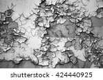 the texture of the rusting...   Shutterstock . vector #424440925