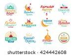 ramadan kareem. vector... | Shutterstock .eps vector #424442608