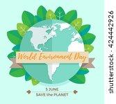 world environment day concept... | Shutterstock .eps vector #424442926