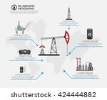 oil industry processing and... | Shutterstock .eps vector #424444882
