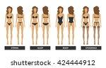 women's underwear. pretty girl... | Shutterstock .eps vector #424444912