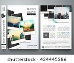 Flyers design template vector.Photography brochure report business magazine poster template.Cover photography book postcard portfolio or presentation with picture design.Brochure layout in A4 size - stock vector