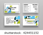 geometric vector business cards ...