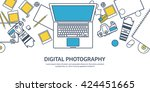 photography equipment with... | Shutterstock .eps vector #424451665