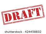 draft stamp | Shutterstock . vector #424458832