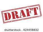 draft stamp | Shutterstock . vector #424458832