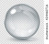 big transparent glass sphere...