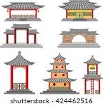 korea palace | Shutterstock .eps vector #424462516
