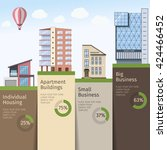 real estate infographics with... | Shutterstock .eps vector #424466452
