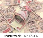 indian rs.1000 above group of... | Shutterstock . vector #424473142