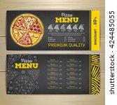 vintage chalk drawing fast food ... | Shutterstock .eps vector #424485055