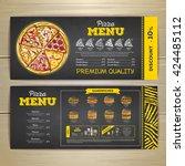 vintage chalk drawing fast food ... | Shutterstock .eps vector #424485112