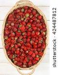 Heap Of Fresh Strawberries In...
