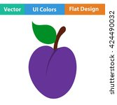 flat design icon of plum  in ui ...