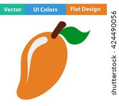 flat design icon of mango in ui ...