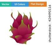 flat design icon of dragon...