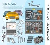 car service mechanic tool box... | Shutterstock .eps vector #424492072