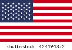 Usa Flag. Flat Illustration Of...