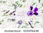 "inspirational quote ""work hard... | Shutterstock . vector #424496638"