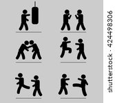 gym icon | Shutterstock .eps vector #424498306