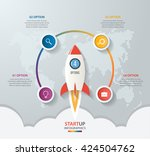 startup vector circle... | Shutterstock .eps vector #424504762