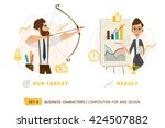 business characters in circle.... | Shutterstock .eps vector #424507882