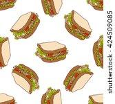 seamless pattern color sandwich | Shutterstock .eps vector #424509085