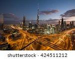 dubai  uae   november 14  dubai ... | Shutterstock . vector #424511212