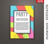 design of template invitation... | Shutterstock .eps vector #424516156