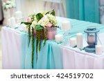 wedding table decorations  | Shutterstock . vector #424519702