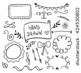 Set Of Hand Drawn Decorative...