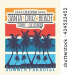 california surf session  santa... | Shutterstock .eps vector #424532452
