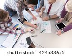 startup business  young... | Shutterstock . vector #424533655