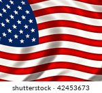 pride and glory usa flag | Shutterstock . vector #42453673